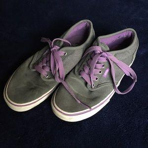Vans Shoes   Grey And Purple   Poshmark